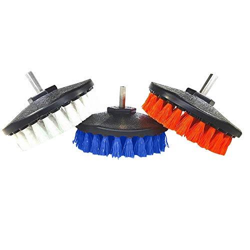 styleinside Brosse de Perceuse Électrique de 3 PCs, Fil en Plastique de 5 Pouces Frottant La Brosse Electr Portable pour La Cuisine de Pneu de Voiture
