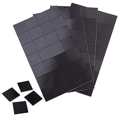 WINTEX Magnetplättchen, selbstklebend, stark – 112 Magnete 30x30mm, zuschneidbar – Flache Klebemagnete geeignet zum Foto / Bilder aufkleben oder an die Tafel kleben 30x30x2mm