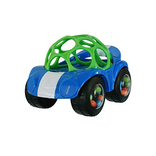 Bright Starts Rattle & Roll Buggie Easy Grasp Push Vehicle Toy, Ages 3 months +,...