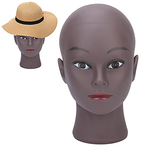 Cabeza modelo, cabeza modelo africana Cabeza de maniquí calva Cabeza de maniquí para peluqueros para salón