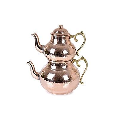Copper Tea Pot, Kettle, Turkish Tea, Turk Cayi, Chai, Tea Maker, Copper Kettle, Caydanlik, Samovar, Handmade, Handcrafted