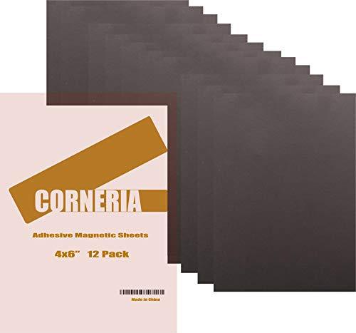 corneria 12unidades 4x 6'Self adhesivo magnético hojas 20mil imanes sticker-for DIY plantilla para estarcido (manualidades