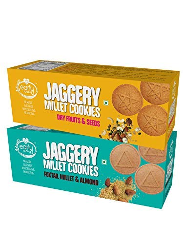 Assorted Pack of 2 - Foxtail & Dry Fruits Jaggery Cookies...