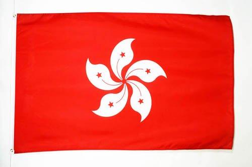 AZ FLAG Flagge Hongkong 150x90cm - HK Fahne 90 x 150 cm - flaggen Top Qualität