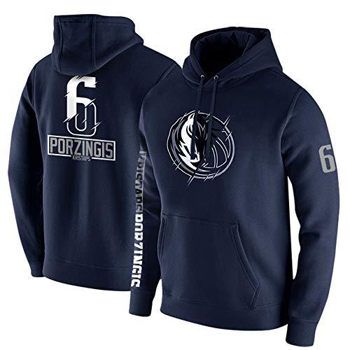 Uomini Pallacanestro Hoodedies - NBA Dallas Mavericks # 6 Kristaps Porziņģis Manica Lunga Nuovo Outdoor Felpata Casuale,XL(170~178CM/65~78KG)