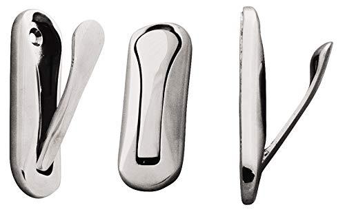 Preisvergleich Produktbild Unbekannt Klappbarer Kleiderhaken Messing,  verchrom 75x25 mm