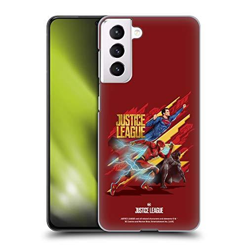 Head Case Designs Licenza Ufficiale Justice League Movie Trio Arte Personaggi Cover Dura per Parte Posteriore Compatibile con Samsung Galaxy S21 5G