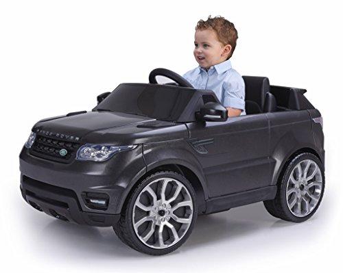FEBER- Range Rover Macchinina Elettrica con Luci e Suoni, 6 V, Colore Nero, 800009610