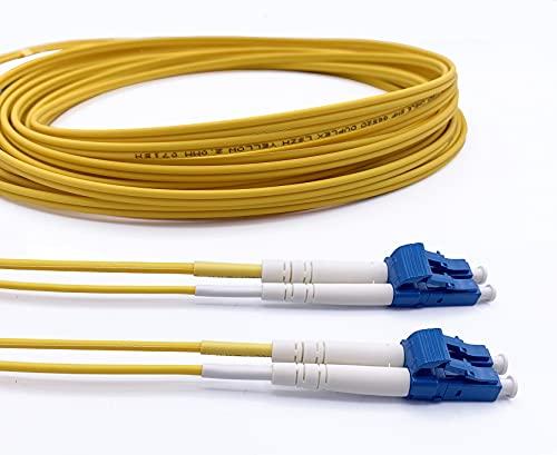 Elfcam Cavo Fibra Ottica LC/UPC per LC/UPC OS2 Monomodale Duplex 9/125um LSZH, 30M