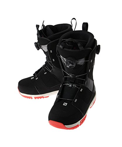 Bota de snowboard para hombre salomon dialogue Focus Boa 2015, color black/grey/red, tamaño 26,5
