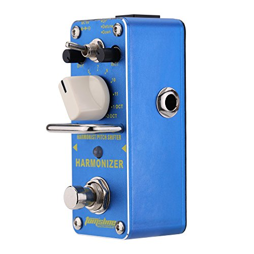 ammoon Harmonizer Harmonist/Pitch Shifter Electric Guitar Effect Pedal Mini Single Effect with True Bypass AROMA AHAR-3