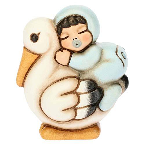 THUN - Bimbo a Cavallo della Cicogna - Bomboniera e Soprammobile - Formato Piccolo - Ceramica - 5,2 x 3,5 x 6,2 h cm