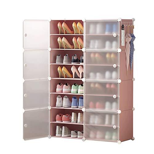 Estante de Zapatos Gabinete modular para ahorrar espacio, perchero de zapatos ideal para zapatos, botas, zapatillas de zapatos portátil de almacenamiento de zapatos Torre para la Sala de Estar de Dorm