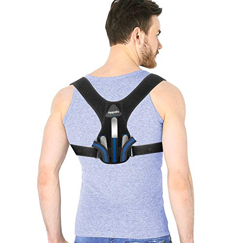 Posture Corrector for Men & Women, APPOLIS Upper Back Straightener Brace, Adjustable Device for Clavicle Support, Providing Pain Relief from Neck, Back and Shoulder (Universal)