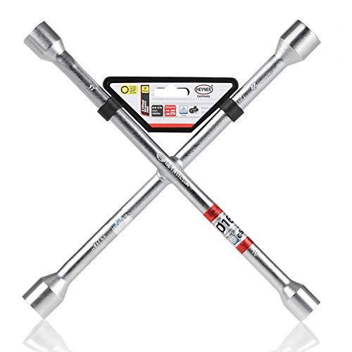 HEYNER® Radkreuzschlüssel silber Schlüsselweiten 17 19 21 und 23 mm