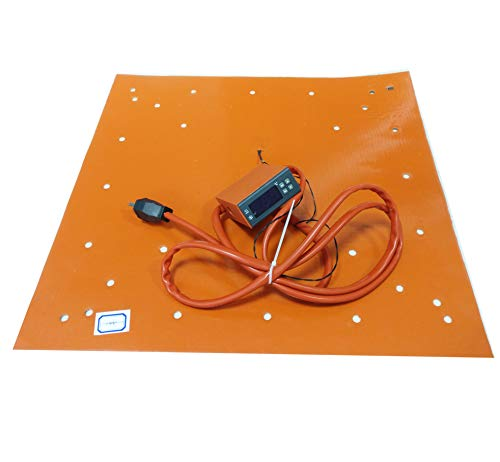 510x510mm Silicon Heated Bed for CR-10S5 3D Printer with Digital Temperature Controller Heating up to 100°C Within 10 Minutes