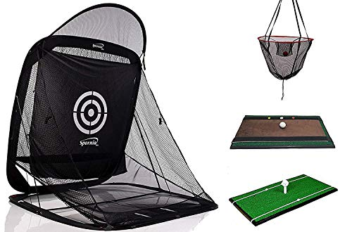 Spornia 3pc Golf Bundle SPG-7 Golf Practice Net