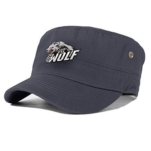 Gorra de Estilo Militar con Logotipo de Wolf Roar Griping, Estilo Militar, Color sólido, Unisex Azul Azul Marino Taille Unique