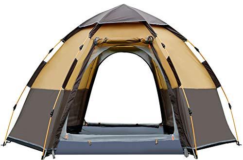 Casas de campaña familiares, para 3 a 4 personas, automática, para deportes al aire libre, impermeable, instantánea, portátil, con un diseño de ventilación avanzado