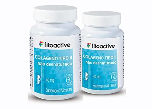 Kit 2 Colágeno Tipo 2 40 mg 60 Cápsulas Fitoactive
