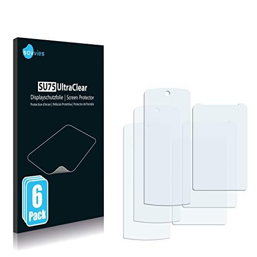 Savvies 6X Schutzfolie kompatibel mit Motorola KRZR K1 Bildschirmschutz-Folie Ultra-transparent
