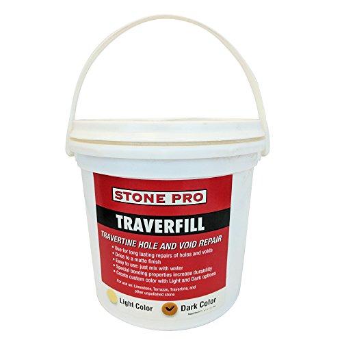 Stone Pro Traverfill - Travertine Hole and Void Repair - 3 Pound - Dark