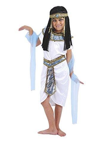 Fiori Paolo - Principessa del Nilo Costume Bambina, Bianco, M (5-7 Anni), 61228.M