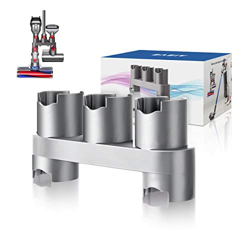 AIEVE Accesorios Soporte Organizador de montaje en pared Accesorios Almacenamiento con tornillos para aspiradora inalámbrica Dyson V11 V10 V8 V7 (gris, 1 pieza)