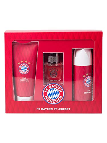 FC Bayern Pflege-Set, EAU de Toilette, Deodorant, 2in1 Duschgel Haut und Haar