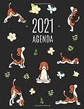 Cani e Yoga Agenda 2021: Diario Settimanale per Organizzare Giorni Occupati | Pianificatore Giornaliera 2021