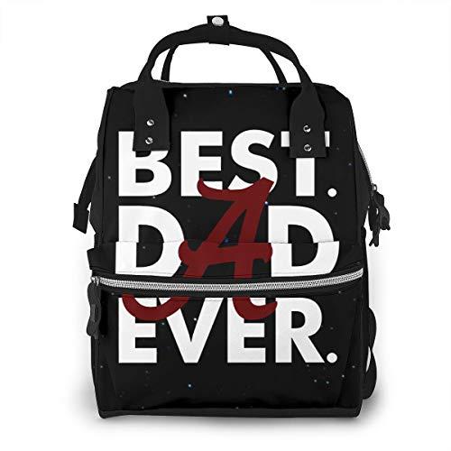 Veta Megica Best Dad Ever Alabama Crimson Tide Baby Diaper Bags Large Capacity Diaper Backpack