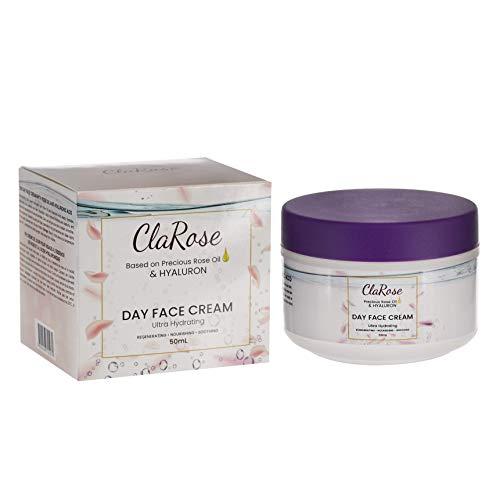 Crema facial antienvejecimiento con ácido hialurónico de ClaRose con