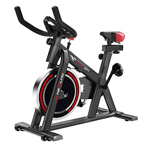 Spinning Bike Bicicleta Estática para El Hogar, Bicicletas De Spinning De Interior Fijas para Hombres Y Mujeres, con Soporte para Botella Y Soporte para Teléfono Móvil