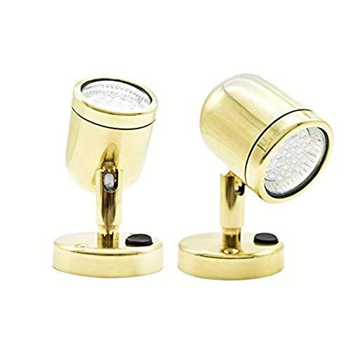 MARINE CITY Brass Swivel Head Cabin/Reading/Chart MR-16-3W. LED Light (4 Pcs)