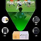 Videoproiettore Portatile, J9 Mini Portatile 1080P Wireless Home Theater Lettore multimediale 2500 Lumen