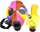 Máscara Bong Hookah Silicon Skull Forma Mascarilla BONG Fumar Shisha Hookah Para Disfraz De Partido Y Fiesta De Fiesta, Color Enviado al azar