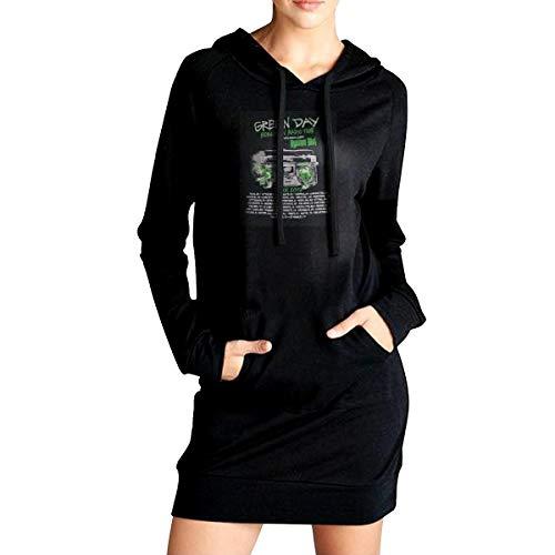 LEGENDWZ Green Day Revolution Radio Tour Women's Long Hooded Sweatshirt Tops Long Sleeve Hoodie Pullovers Loose Hoodies Jumper Dresses