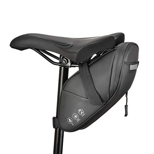 CCKOLE - Borsa da Sella per Bicicletta, con Riflettente, Impermeabile, Multifunzione, Resistente agli Strappi, per Mountain Bike, Bici da Corsa