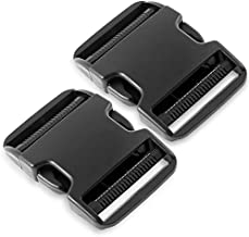 Dual Adjustable Quick Side Release Buckles Clips Snaps, Extra Thick Military Grade, No Sewing Heavy Duty Plastic Replacement for 2
