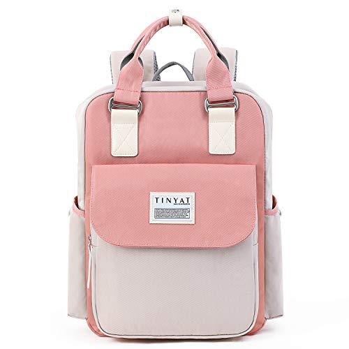 "TINYAT Backpack 14"" Waterproof Laptop Backpack for College & Student 15.6"" TINYAT Travel Backpacks for Women & Men"