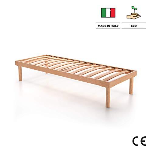 Mobilifiver Somier con Listones de Madera para una Plaza, 190 x 80 x 36 cm