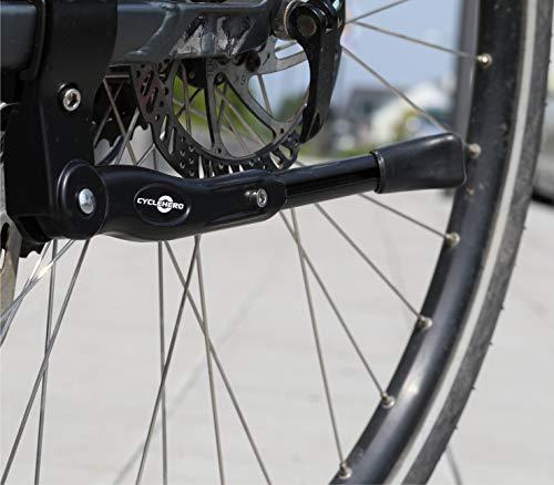 CYCLEHERO Stabilerfahrrad Ständer 2.0 (mit Verstellfunktion) Fahrrad Ständer für Mountainbike in Größe 24