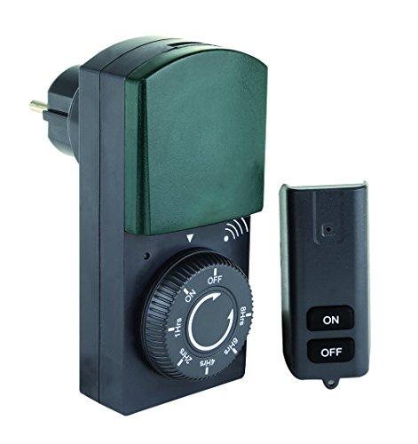 REV Zeitschaltuhr mit Countdown-Funktion und Fernbedienung (Reichweite: ca. 25 m), schwarz-grün