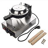 Bubble Waffle Machine Elettrico, Forno elettrico per torta all'uovo Macchina per torta all'uovo con manico in legno girevole a 360 gradi per gli amanti della pasticceria professionale