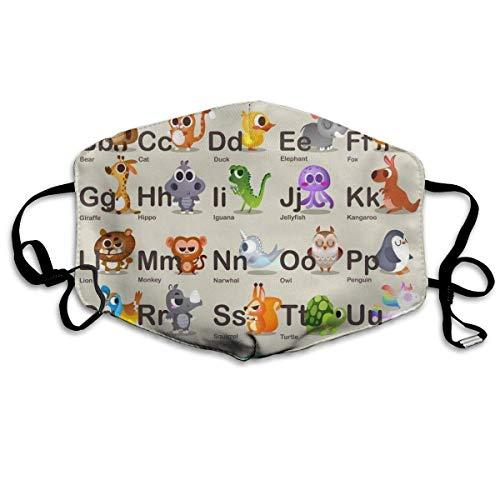 Mundmaske für das tägliche Anziehen, Hipster Animal Anti-Staub-Mund-Muffel, waschbar wiederverwendbare Holiday Half Face Masken für Herren und Damen mit verstellbarem Ohrbügel