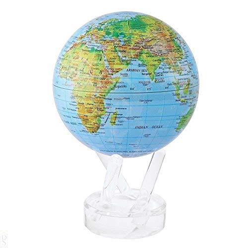 Mova El Globo 4.5 Pulgadas de Mapa en Relieve Azul
