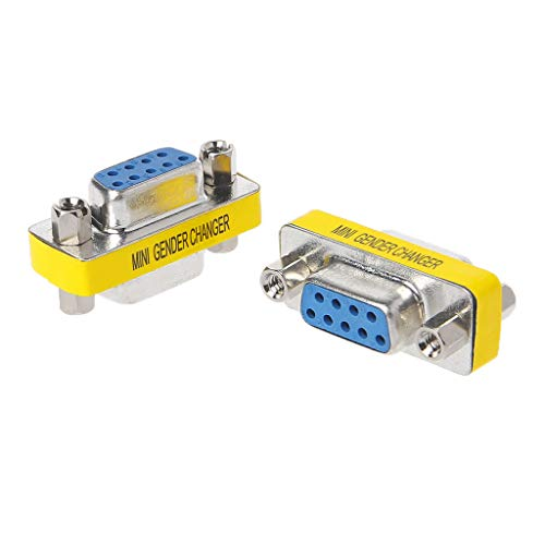 JunYe 2 Stück DB9 Mini Gender Changer Adapter 9pol RS232 Com D-Sub VGA Stecker verbinden - 3#