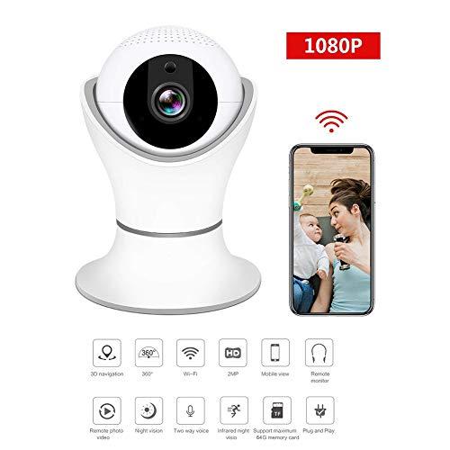 QinLL 1080P WiFi IP-camera, Indoor draadloze bewakingscamera, met nachtzicht, bewegingsdetectie, 2-weg audio, voor babyouder monitor, bb