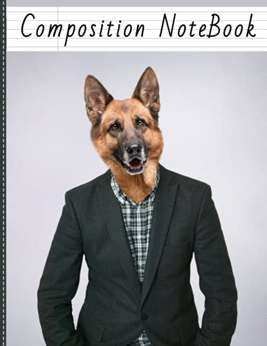 Composition Notebook: College Ruled   German sheperd dog: book for students, girls, boys, kids   120 Pages   Size: 8.5X11 inches