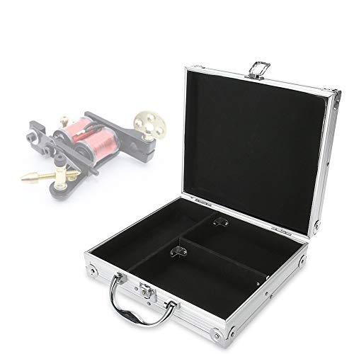 Salmue Caja de Almacenamiento de la máquina del Tatuaje de Aluminio Ametralladora Caja de Transporte Organizador vacío Espuma Pad